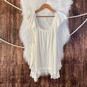 We the Free | White Crinkle Swing Top M